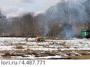 Купить «Весенний костер в ботаническом саду (Калининград)», эксклюзивное фото № 4487771, снято 9 апреля 2013 г. (c) Ната Антонова / Фотобанк Лори