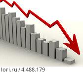 Купить «График падения», иллюстрация № 4488179 (c) WalDeMarus / Фотобанк Лори