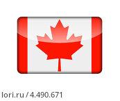 Купить «Флаг Канады в виде глянцевой иконки», иллюстрация № 4490671 (c) Александр Макаров / Фотобанк Лори
