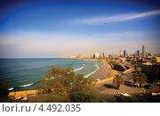 Пляж в Тель-Авиве, Израиль (2012 год). Стоковое фото, фотограф Георгий Курятов / Фотобанк Лори