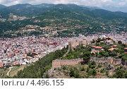 Вид сверху на город Аланья, Турция (2011 год). Стоковое фото, фотограф Татьяна Метельская / Фотобанк Лори