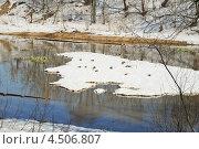 Речка Самотека весной. Стоковое фото, фотограф Алёшина Оксана / Фотобанк Лори
