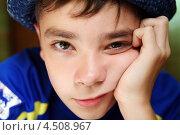 Купить «Портрет мальчика подростка 12 лет», фото № 4508967, снято 1 августа 2010 г. (c) Сергей Лешков / Фотобанк Лори