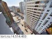 Купить «Строительство современных многоэтажных домов, Москва», фото № 4514403, снято 7 октября 2011 г. (c) Losevsky Pavel / Фотобанк Лори