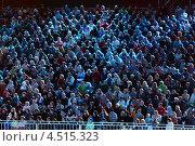"""Купить «Зрители на трибуне во время фестиваля военной музыки """"Спасская башня"""" 4 сентября 2011», фото № 4515323, снято 4 сентября 2011 г. (c) Losevsky Pavel / Фотобанк Лори"""