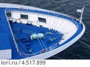 Купить «Носовая часть морского судна», фото № 4517899, снято 1 августа 2011 г. (c) Losevsky Pavel / Фотобанк Лори