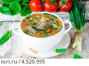 Купить «Грибной суп с гречкой», фото № 4520995, снято 16 июля 2010 г. (c) Татьяна Пинчук / Фотобанк Лори