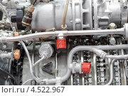 Купить «Мотор вертолета с турбиной крупным планом на выставке», фото № 4522967, снято 21 мая 2011 г. (c) Losevsky Pavel / Фотобанк Лори