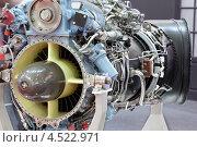 Купить «Мотор вертолета с турбиной на выставке», фото № 4522971, снято 21 мая 2011 г. (c) Losevsky Pavel / Фотобанк Лори