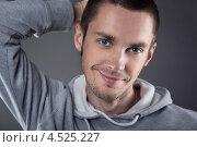 Портрет молодого небритого мужчины. Стоковое фото, фотограф Елена Ефимова / Фотобанк Лори
