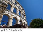 Римский амфитеатр в городе Пула. Хорватия (2012 год). Стоковое фото, фотограф Алексей Иванов / Фотобанк Лори