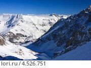 Горный пейзаж в Альпах, La Grave, Франция (2012 год). Стоковое фото, фотограф Алексей Иванов / Фотобанк Лори