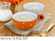 Купить «Овсяная каша с маслом», фото № 4532307, снято 6 декабря 2012 г. (c) Надежда Мишкова / Фотобанк Лори
