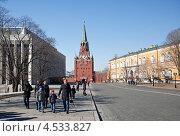 Вид на здание Арсенала, Троицкую башню и Кремлевский дворец на территории Московского Кремля (2013 год). Редакционное фото, фотограф Ekaterina Shustrova / Фотобанк Лори