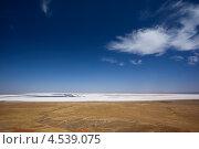 Купить «Соленое озеро Баскунчак», фото № 4539075, снято 22 августа 2010 г. (c) Алексей Шлыков / Фотобанк Лори