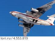 Купить «Грузовой самолет Ил-76 МЧС России идет на посадку», фото № 4553819, снято 22 апреля 2013 г. (c) Андрей Радченко / Фотобанк Лори