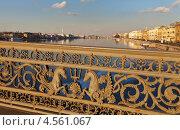Купить «Санкт-Петербург. Решетка моста Лейтенанта Шмидта», фото № 4561067, снято 29 марта 2013 г. (c) Виктория Катьянова / Фотобанк Лори