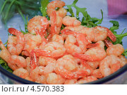 Купить «Жареные креветки в тарелке», эксклюзивное фото № 4570383, снято 24 мая 2012 г. (c) Алёшина Оксана / Фотобанк Лори
