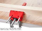Купить «Деревянный брусок, зажатый в тисках», фото № 4573191, снято 5 февраля 2012 г. (c) Андрей Попов / Фотобанк Лори