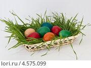 Пасхальные яйца в вазе. Стоковое фото, фотограф Пётр Квашин / Фотобанк Лори