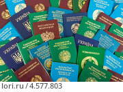 Купить «Иностранные паспорта в качестве фона», фото № 4577803, снято 23 февраля 2019 г. (c) FotograFF / Фотобанк Лори
