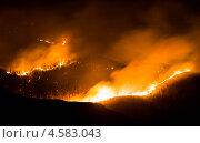 Купить «Пожар в Тайге», фото № 4583043, снято 30 апреля 2013 г. (c) Куприянов Евгений / Фотобанк Лори