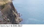 Скалы у входа в бухту Балаклава. Стоковое фото, фотограф Елена Камнева / Фотобанк Лори