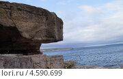 Скалистый берег Братского водохранилища. Стоковое фото, фотограф Елена Камнева / Фотобанк Лори