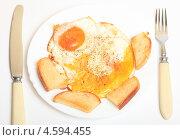 Купить «Яичница с гренками», эксклюзивное фото № 4594455, снято 5 мая 2013 г. (c) Яна Королёва / Фотобанк Лори