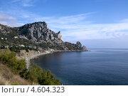Купить «Высокие скалы на берегу моря», фото № 4604323, снято 16 ноября 2012 г. (c) Анатолий Типляшин / Фотобанк Лори