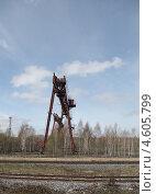 Купить «Старый полигон технологического оборудования. Весна», эксклюзивное фото № 4605799, снято 9 мая 2013 г. (c) Валерий Акулич / Фотобанк Лори