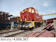 Купить «Маневровый локомотив после капитального ремонта», эксклюзивное фото № 4606367, снято 9 мая 2013 г. (c) Валерий Акулич / Фотобанк Лори