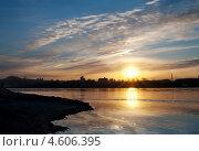 Купить «Закат Красноярск», фото № 4606395, снято 4 мая 2013 г. (c) Типляшина Евгения / Фотобанк Лори