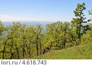 Купить «Адыгея, горный пейзаж весной. На заднем плане главный Кавказский хребет.», фото № 4618743, снято 10 мая 2013 г. (c) Овчинникова Ирина / Фотобанк Лори
