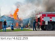 Купить «Пожар в селе», эксклюзивное фото № 4622259, снято 5 мая 2013 г. (c) Володина Ольга / Фотобанк Лори