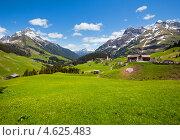 Летний вид на альпийскую деревню, Австрия (2012 год). Стоковое фото, фотограф Юрий Брыкайло / Фотобанк Лори