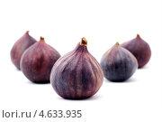 Купить «Пять плодов инжира», фото № 4633935, снято 16 января 2019 г. (c) Елена Архангельская / Фотобанк Лори