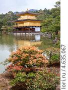 Купить «Деревья и кустарники на территории храма Kinkaku-ji (Золотой павильон) в городе Киото, Япония», фото № 4635067, снято 12 апреля 2013 г. (c) Кекяляйнен Андрей / Фотобанк Лори