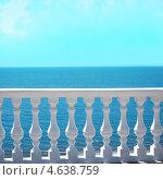 Вид на море с балкона. Стоковое фото, фотограф Tatyana Krasikova / Фотобанк Лори