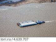 Купить «Буксир-толкач и нефтеналивные баржи на реке», фото № 4639707, снято 15 мая 2013 г. (c) Владимир Мельников / Фотобанк Лори