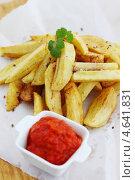 Купить «Жареная картошка», фото № 4641831, снято 22 апреля 2013 г. (c) Юлия Маливанчук / Фотобанк Лори