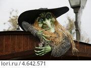 Ведьма в Порт Авентура, хэллоуин, Испания (2012 год). Редакционное фото, фотограф Алексей Лугинин / Фотобанк Лори