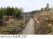 Железная дорога в Финляндию. Стоковое фото, фотограф Олег Пластинин / Фотобанк Лори