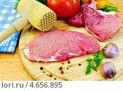 Купить «Мясо отбитое с молотком и овощами», фото № 4656895, снято 26 февраля 2013 г. (c) Резеда Костылева / Фотобанк Лори