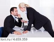 Купить «Флирт на рабочем месте», фото № 4659359, снято 7 октября 2012 г. (c) Андрей Попов / Фотобанк Лори