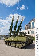 Купить «Советская самоходная пусковая установка зенитного ракетного комплекса 2К12М1 «Куб-М1» (Индекс НАТО SA-6 Gainful)», фото № 4660179, снято 12 мая 2013 г. (c) Иван Марчук / Фотобанк Лори