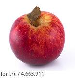 Купить «Красное яблоко с листочком», фото № 4663911, снято 25 мая 2013 г. (c) Литвяк Игорь / Фотобанк Лори