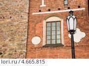 Купить «Уличный фонарь у Кафедрального собора Турку. Финляндия», эксклюзивное фото № 4665815, снято 9 мая 2013 г. (c) Александр Щепин / Фотобанк Лори