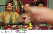 Купить «Three women winning money», видеоролик № 4692527, снято 20 июня 2019 г. (c) Wavebreak Media / Фотобанк Лори