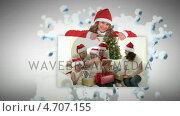 Купить «Christmas animation about people opening presents», видеоролик № 4707155, снято 17 июля 2019 г. (c) Wavebreak Media / Фотобанк Лори